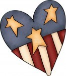 As this cute country patriotic clip art illustrates - the heart of a caregiver is to be where they are needed - even if it means the hospital on a holiday