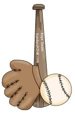 Dont you love this cute youth sports baseball clip art for children and grandchildren