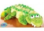 The webkinz stuffed wild animals like this crocodile are great for snuggling with while watching Africam