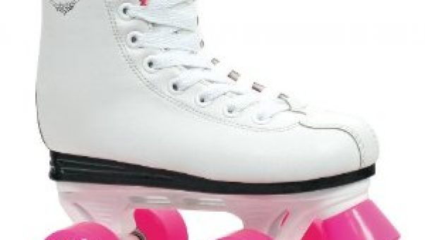 I love these pretty in pink childrens roller skates - my granddaughers would love them too