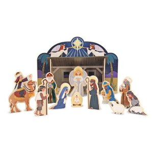 Melissa and Doug childrens Christmas nativity sets are a great way for our grandchildren to learn the Christmas story