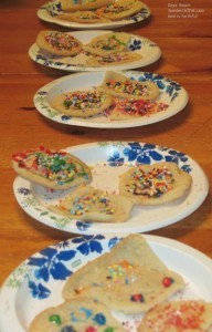 What fun family memories come from decorating these easy sugar cookies - as my easy to use digital camera can attest to