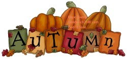 Autumn is on its way - and this fall foliage loving grandmother and her grandkids cannot wait as you can see with this cute country pumpkin clipart