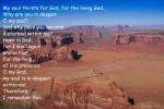 Encouraging Bible verses against the dry desert remind the Sandwich Generation to fix their eyes on God in the midst of grief and loss such as hospitilization or hospice