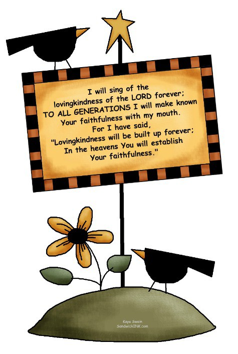 Summer wanes - autumn and fall approach - but these encouraging Bible verses for the Sandwich Generation and cute country sunflower clipart remind us Gods faithfulness