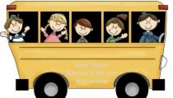 The Sandwich Generation granny nanny and grandkids love the Magic School Bus