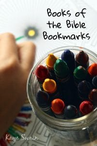 Books of the Bible activities for grandparents grandchildren