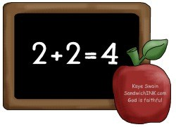 The Sandwich Generation granny nanny and grandkids are busy working on math facts of all kinds
