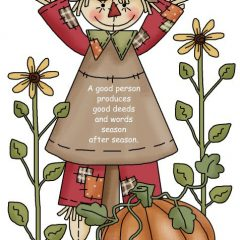 The Sandwich Generation grany nanny loves autumn and thought this inspirational Scripture verse was great for almost-fall