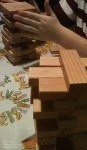 When playing a jenga game with my grandson he made a change to how to play jenga that made it more fun for him