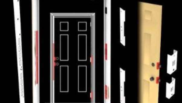 Armor concepts combo kit for the Sandwich Generation caring for elderly parents who want more security on the doors