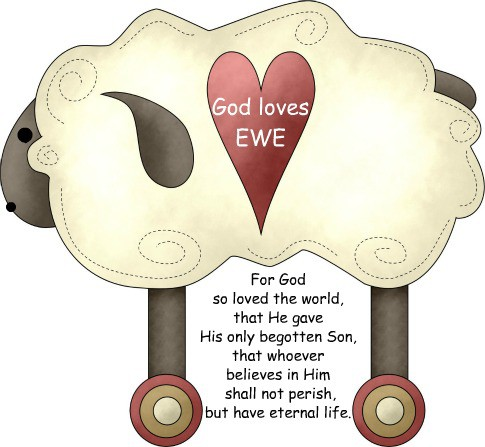 God loves Ewe for the Sandwich Generation for Halloween treats large
