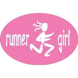 Runner girl decal - fun for the Sandwich Generation granny nanny and grandkids