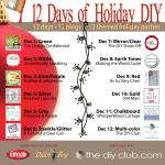 12 days of diy holiday blog party is sure to have a wide variety of fun ideas including some easy crafts for kids and seniors - great for the Sandwich Generation family