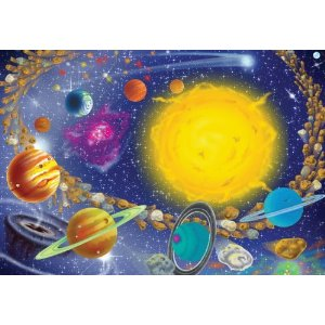 I love educational AND cool jigsaw puzzles like this one of the solar system for my grandkids