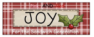 The Sandwich Generation granny regularly enjoys Pink Saturday - and even more now that it is including red and green as my happy holiday clip art shows