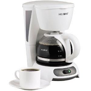 This Mr Coffee is cute and is a 4 cup but without the auto shut off feature for the coffee maker it is not very practical for the Sandwich Generation