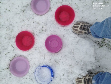 When grandma learned the snow bypassed the rest of the grandkids - we put MORE bowls out