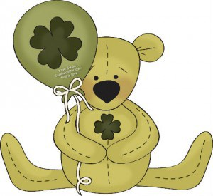 St Patricks Day Coloring Page with teddy for the Sandwich Generation grandkids copy