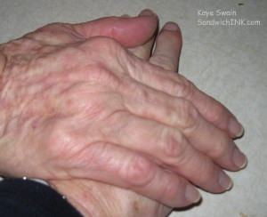 Caring for elderly parents is best with teamwork - as this shot from my easy to use digital camera reminds us