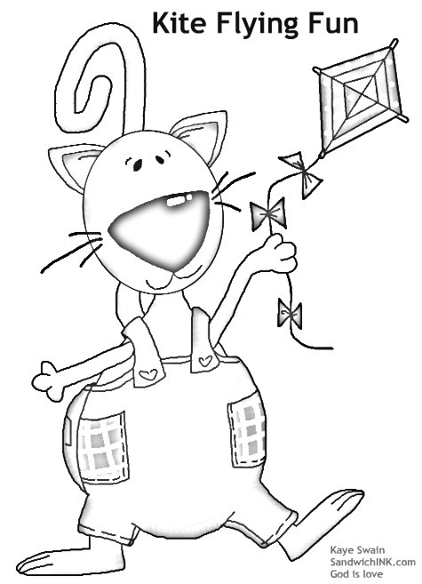 Cute Kite Clipart Coloring Pages for the Sandwich Generation.jpg