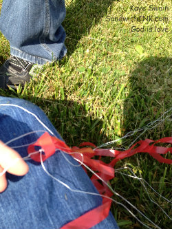 Kite flying fun for kids and grandkids can include doing some untangling