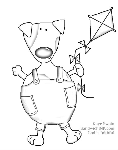 My granddog loves cute kite clipart coloring pages like this for the Sandwich Generation