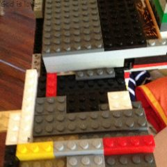 The Sandwich Generation granny nanny loves the creative ideas my grandkids come up with - including with their old and new LEGOs