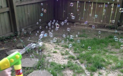These bubble shooter guns were a big hit with my grandkids for blowing LOTS of colorful bubbles 2