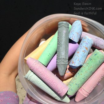 My grandkids enjoyed the shaped sidewalk chalk as much as the glitter and multi-color