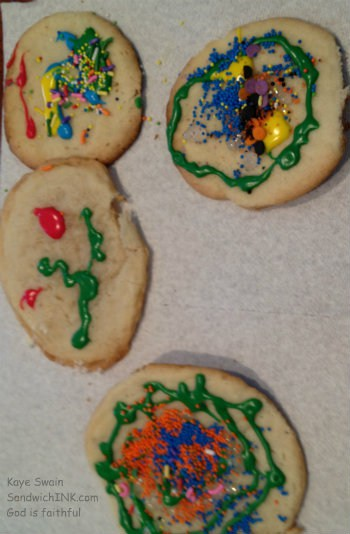 My grandkids have so much fun decorating these easy sugar cookies - and EATING them