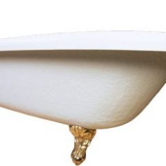 Whether its an old fashioned tub like this or a new sleek tub - bathing very young grandkids or elderly senior parents is a cause for care and concern