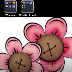 Most useful weather iPhone apps along with cute pink flower clipart for Pink Saturday for the Sandwich Generation