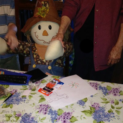 Scarecrow is as popular with the elderly parents as the grandkids in our Sandwch Generation family