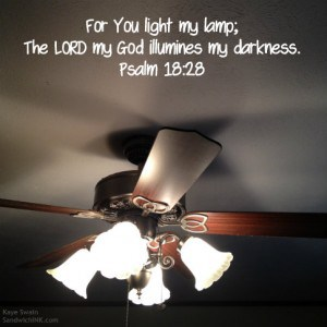 A sweet and encouraging Scripture for my Sandwich Generation family after a power outage