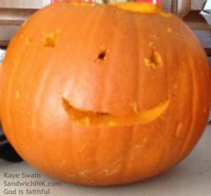 Cute and small little grandchild pumpkin man - Sandwich Generation granny nanny loves them ALL f