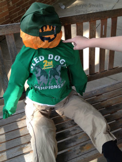 The Sandwich Generation granny nanny is partial to this cute scarecrow - I love his head