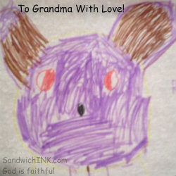 A fun letter for grandkids to make and elderly senior parents to receive