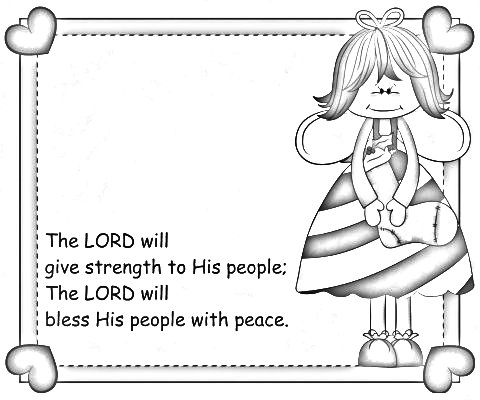 Encouraging Bible verses on peace for the Sandwich Generation - coloring page