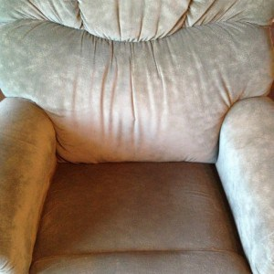 My senior moms beloved reclining rocker - but now she is a bit too weak to handle the lever