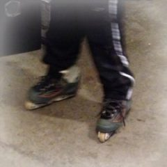 My grandkids are learning to roller skate in my garage while it is too cold outside