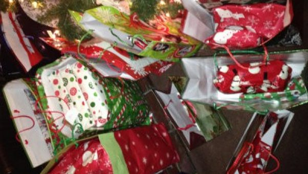 Organized Christmas presents under the tree make a life full of the Sandwich Generation issues a bit easier