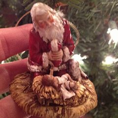 The Sandwich Generation granny nanny loves the unique Christmas tree ornaments that reflect the priority of Jesus' birth for Christmas
