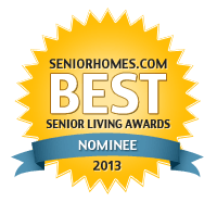 Kaye Swain - SandwichINK - is a nominee in the SeniorHomes.com Best Senior Living Awards 2013 b