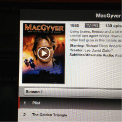 MacGyver is a new fave for my grandkids and an old fave for this baby boomer and my senior mom