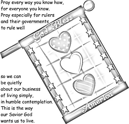 The Sandwich Generation loves the chance to teach our grandkids to pray for our nation while having fun coloring this page
