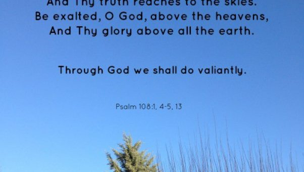 Love the sunshine in Pierce County Washington and love the SONshine in Psalm 108