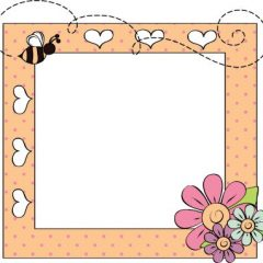 A cute frame for grandkids to decorate for a gift coloring page