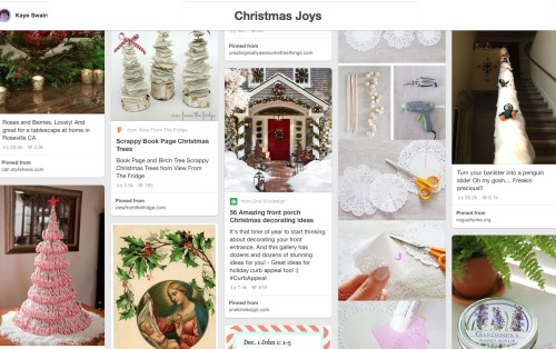 Kaye Swain shares Christmas Joys Pinterest Board grandparents Grandchildren