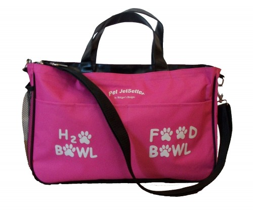 Doggey or other pet carrier bag for overnight visits via pet friendly real estate agent Kaye Swain
